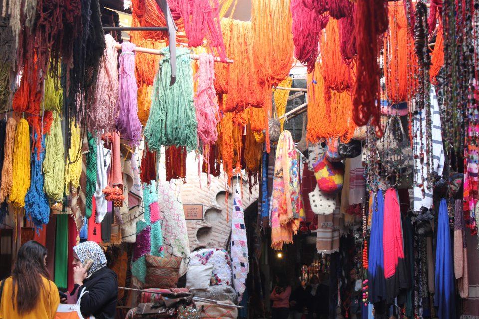 Souk dei tintori, Marrakesh