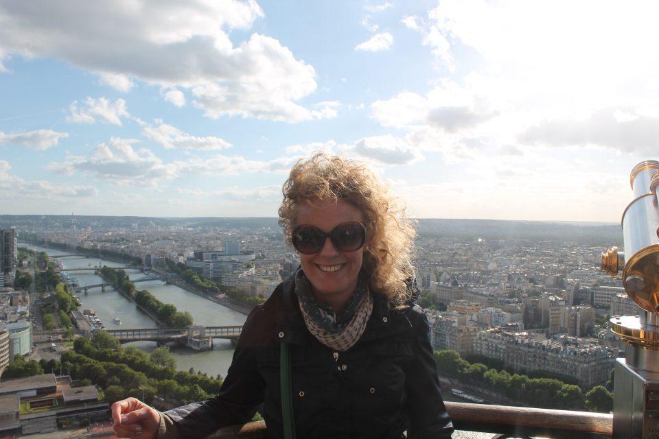Io, sulla Tour Eiffel
