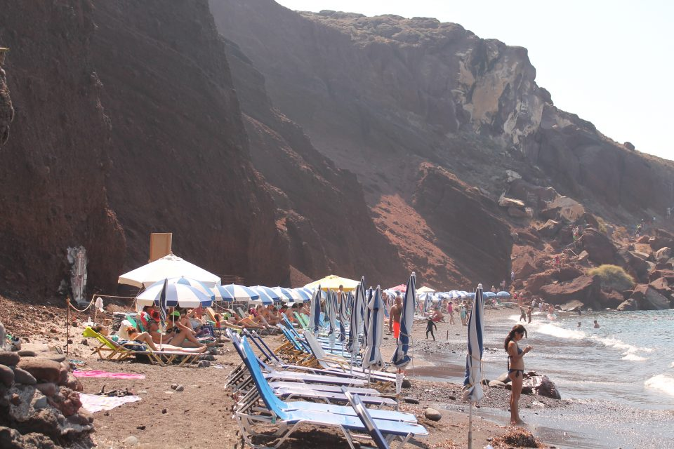 Spiaggia Rossa, Santorini