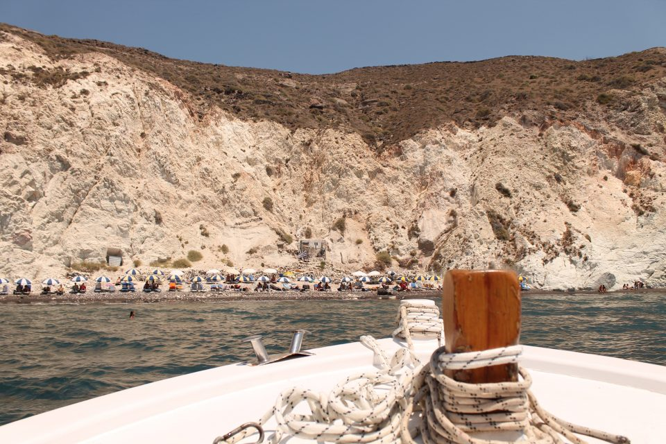 Santorini Spiaggia bianca
