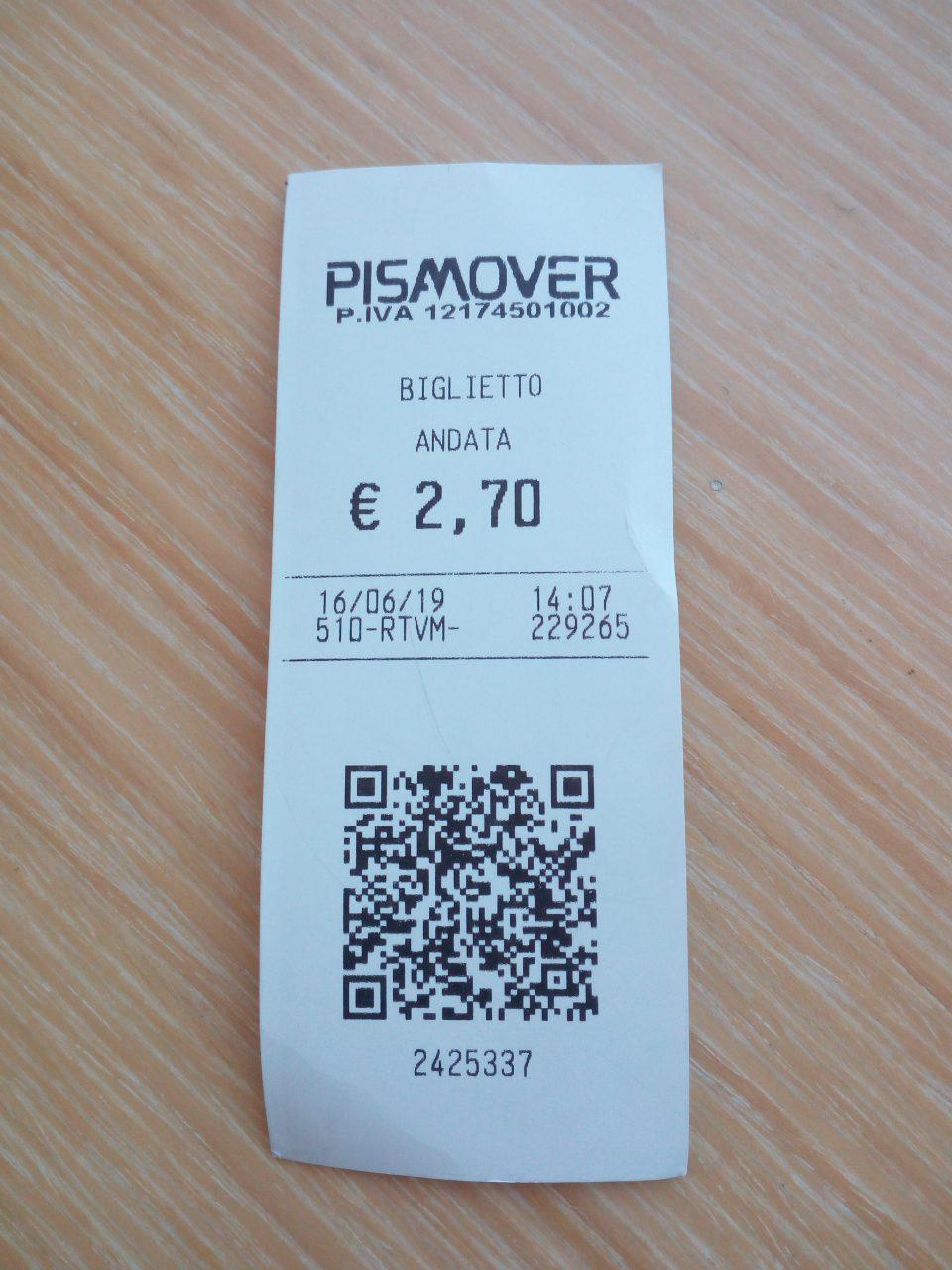 Biglietto Pisa Mover