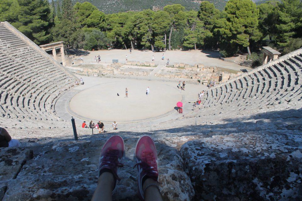 Il teatro di Epidauro, Peloponneso - dove andare in grecia