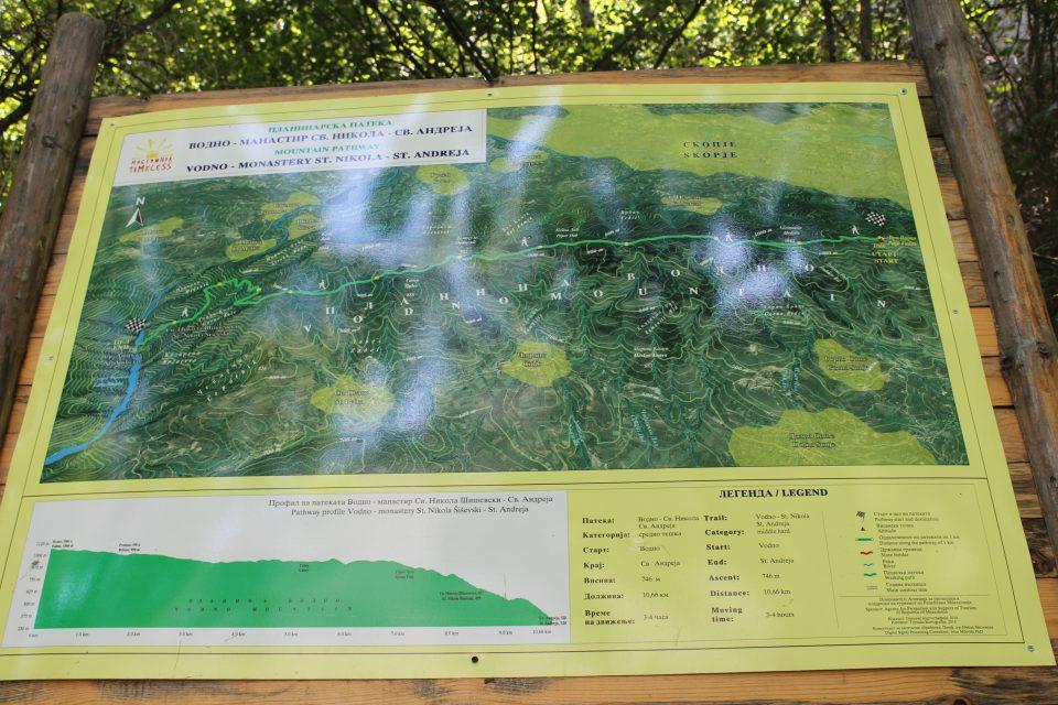 Mappa dei percorsi di trekking - Matka Canyon