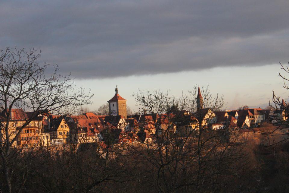 Vista dal  Burggarten  su Rothenburg ob der Tauber
