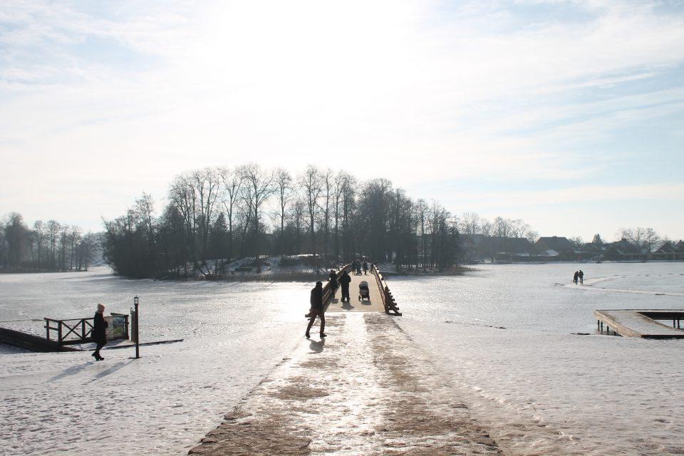 Il ponte dal castello di Trakai