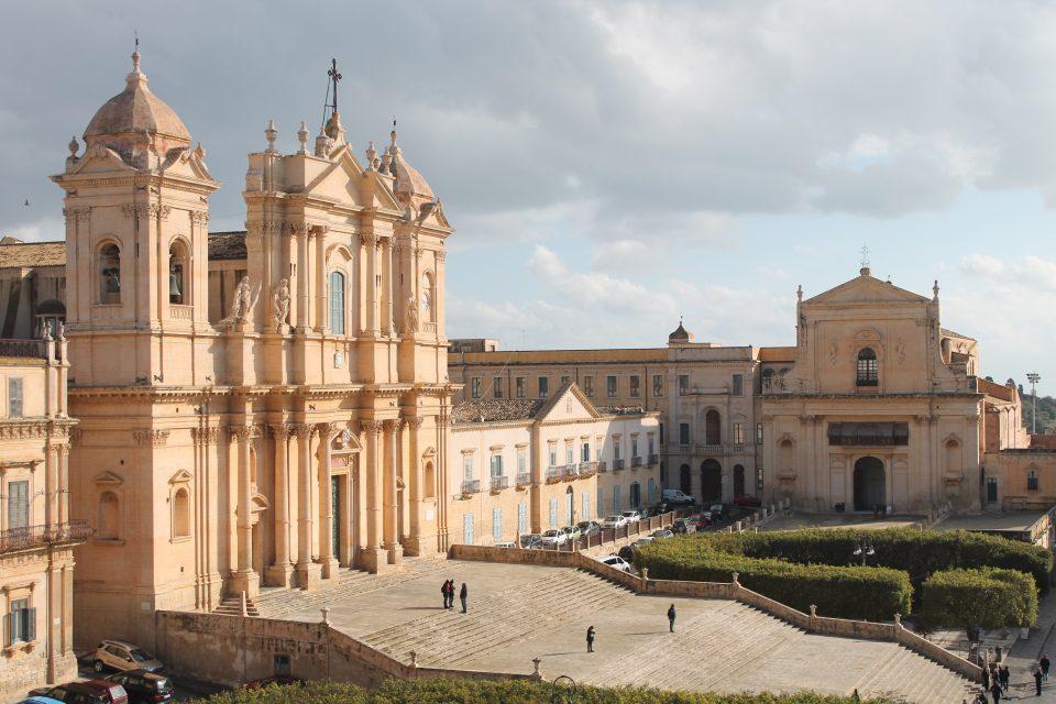 Duomo di Noto Sicilia in inverno