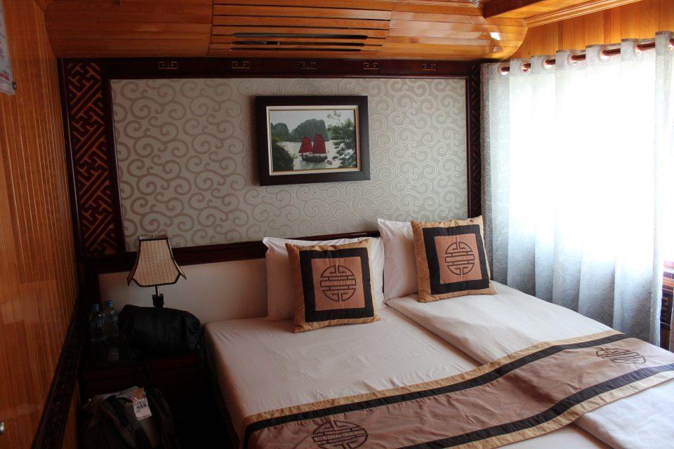 La nostra cabina a bordo  halong bay due settimane in Vietnam
