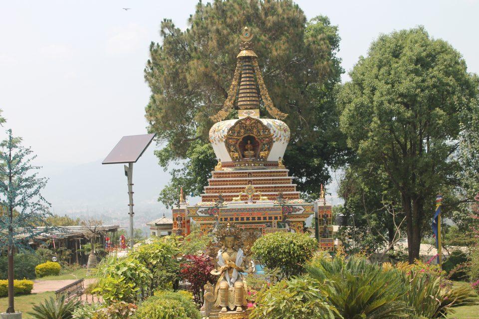 Giardino del monastero di Kopan @posh_backpackers