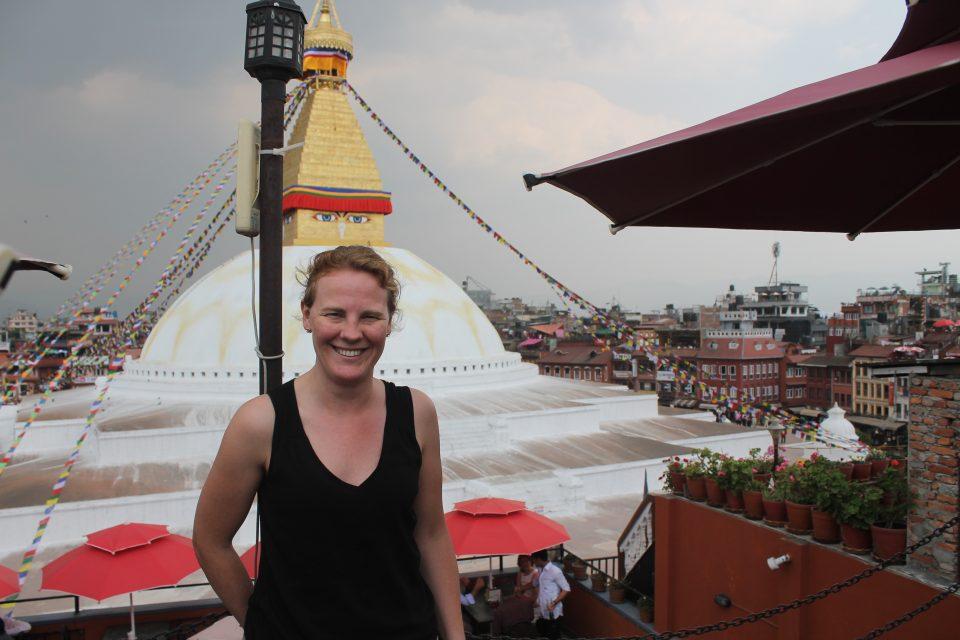Pranzo con vista sulla Stupa di Bodnath @posh_backpackers