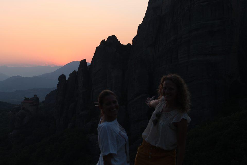 tramonto a Meteora