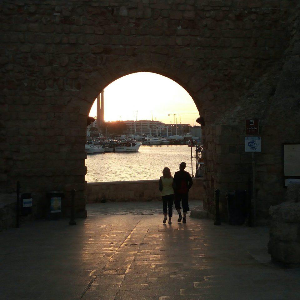tramonto al castello Carlo V, Monopoli
