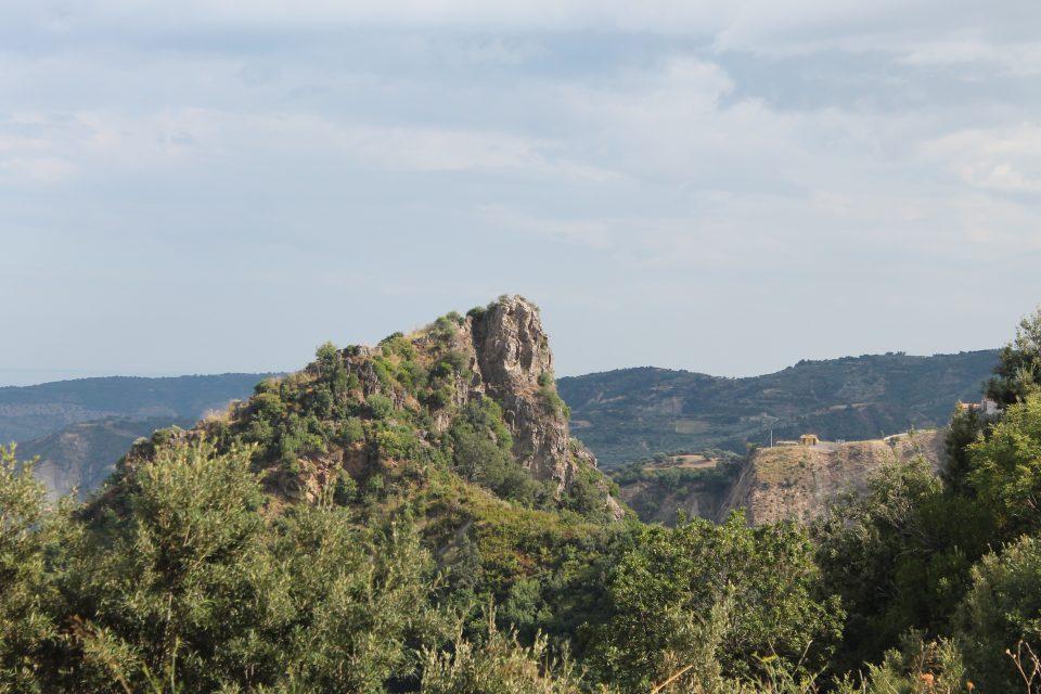 La strada per raggiungere il Monastero greco-ortodosso Bivongi