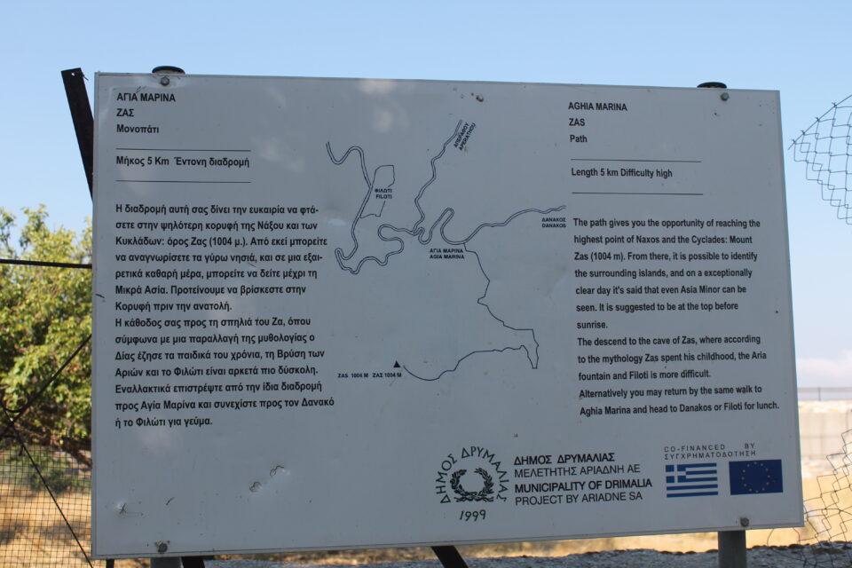 Trekking da Agia Marina al monte Zas