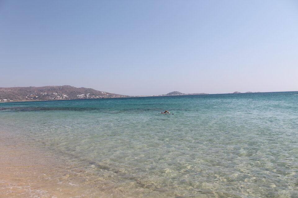 la spiaggia di Plaka Naxos