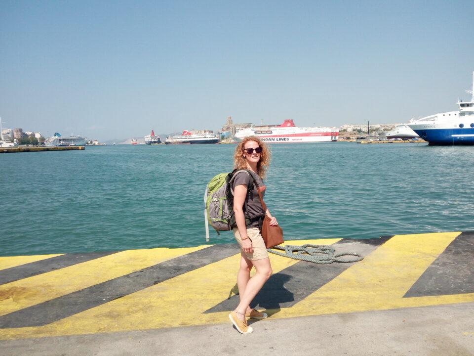 Io, al porto del Pireo